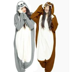 Adult Kids Sloth Onesie0 Kigurumi Pajamas Animal Costume by