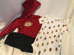 GERBER Baby 3 piece outfit NEW 24 months Boys MONKEY Hoodie