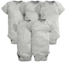 GERBER Baby Boy or Girl Unisex 5-Pack Short Sleeve Cotton On