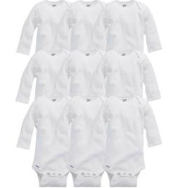 GERBER Baby Boy or Girl Unisex 9-Pack Long Sleeve Onesies -