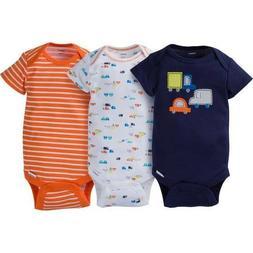 Gerber Baby Boys 3 Pack Onesies NEW Size 0-3 Months Little C