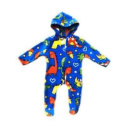 Baby Boys Girls Fleece One Piece Pajamas Outfit All In One D
