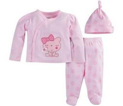GERBER BABY GIRL Take-Me-Home 3-Piece Layette Gift Set Baby