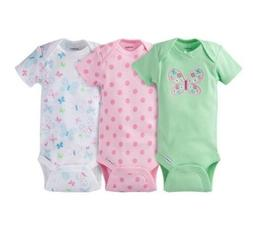 Gerber Baby Girls 3-Pack Butterfly Onesies Size Newborn BABY