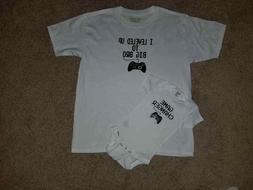 Baby Sower Gift Big Brother Gamer T-shirts S,M,L,XL Kid & 3-