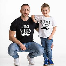 Big Guy Little Guy Father Son Shirts Matching Tees Daddy and
