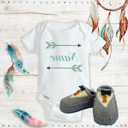 Boho Baby Outfit Personalized Baby Onesies With Grey Shoes B
