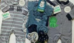 Boy's Size Preemie NWT Carter's 2 Footed Sleepers/Gerber Org