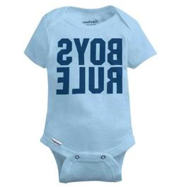 Boys Rule Girls Drool Gerber Onesie | Little Man Son Sarcast