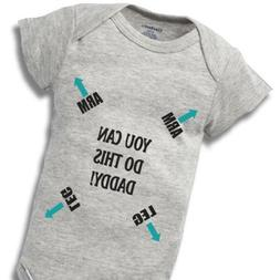 Daddy You Can Do This Onesie Baby Gift Funny Cute Dad Father