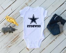Dallas Cowboys Gerber Baby Onesie: Available in 5 sizes w/ 5