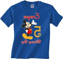 Disney Mickey Mouse Birthday BoyT-Shirt Personalized Age and