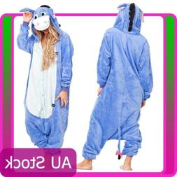 Eeyore Donkey Animal Adult kids Unisex Kigurumi Cosplay Cost