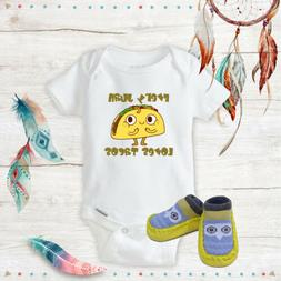 Everyone loves tacos Outfit Onesies & Yellow Owl Shoes Baby