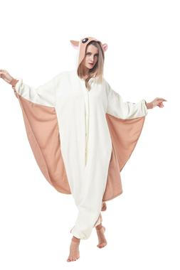 Flying Squirrel Pajamas Women Costumes Adult Animal Onesie0