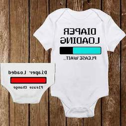 Funny Diaper Loading with Bottom Unisex Baby Onesies - Baby