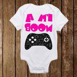 Geeky Baby Onesie I'm a Noob- Baby Girl or Boy - Gamer - Ner