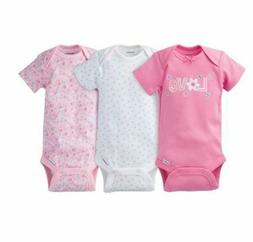 "Gerber Girl 3-Piece Pink ""Love"" Onesies Baby Clothes Shower"