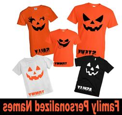 HALLOWEEN Family Matching Tshirt Custom Names Mommy Daddy Ts