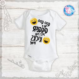 I'm a Giggler just for Kicks Now Newborn Funny Baby Onesies