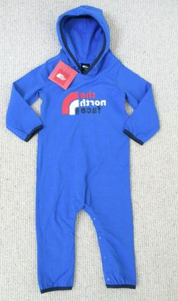 THE NORTH FACE INFANTS BOYS LOGO ONESIE12-18 HOODED ONE PIEC