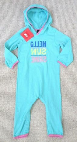 THE NORTH FACE INFANTS GIRLS LOGO ONESIE12-18, 18-24 HOODED