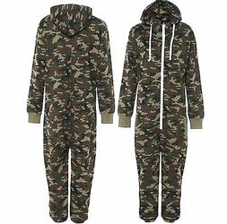 Kids Army Camo Print 1Onesie Hooded Jumpsuit All In One Boys