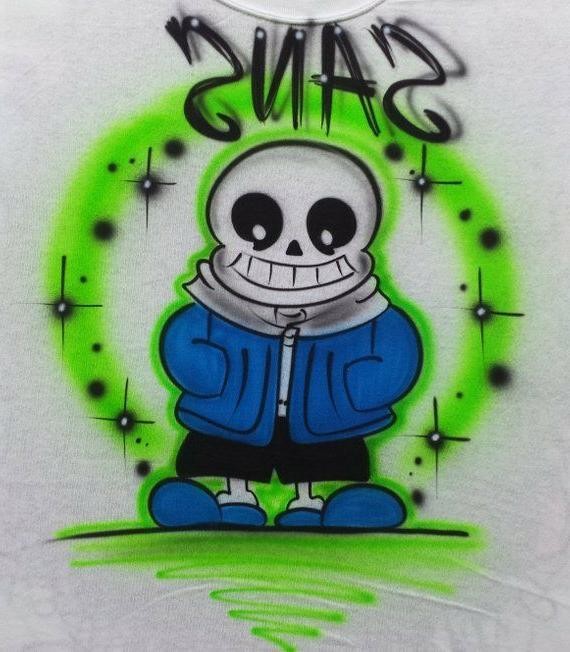Airbrushed Undertale Inspired T-Shirt