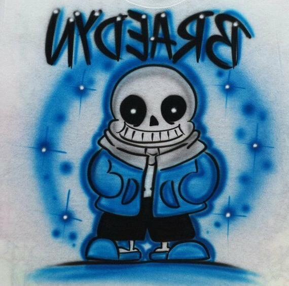 airbrushed undertale sans inspired t shirt