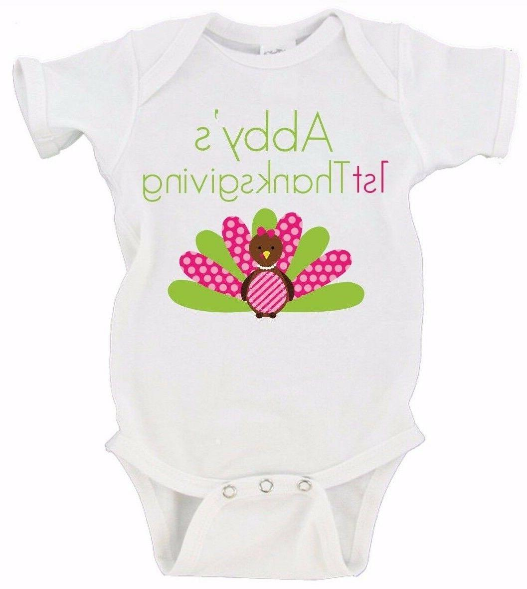 custom name baby s first thanksgiving babies