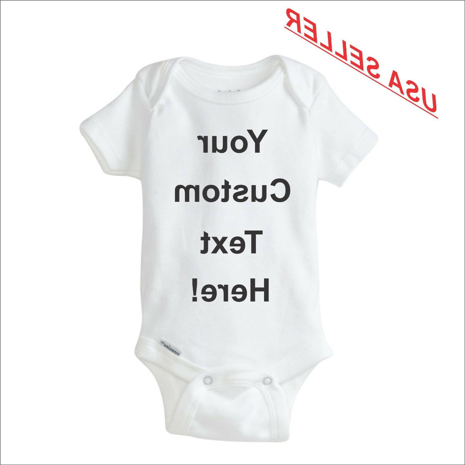 custom onesie personalized infant baby shower cute