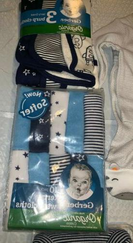 NEWBORN Baby Boy clothes, CARTER'S/Gerber Lot Washcloths