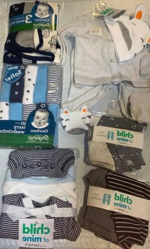 newborn baby boy clothes carters gerber lot