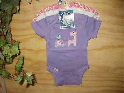 newborn baby girl three sleepers set sleepwear