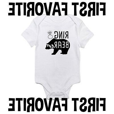ring bearer baby onesie shirt wedding marriage