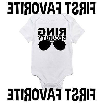 ring security wedding marriage baby onesie shirt