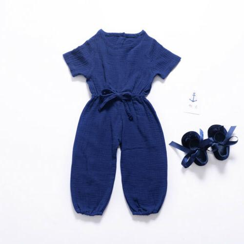 US Toddler Boys Girls Jumpsuit Outfits