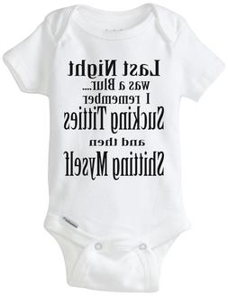 Last Night Was a Blur... Funny Baby / Infant Authentic Gerbe