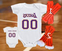 Los Angeles Lakers Jersey Onesie Personalized Shirt Bodysuit