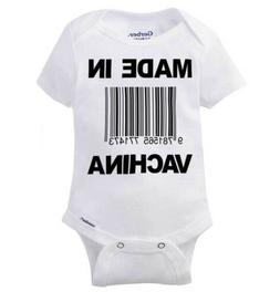 Made in Vachina Funny Shirt Cute Gift Idea Cool Baby Clothes