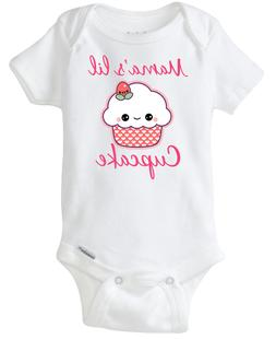 Mama's little Cupcake funny Baby Onesie cute for baby girls