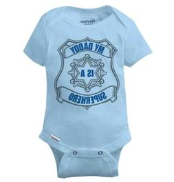 My Daddy Is A Superhero Gerber Onesie | Cop Police Officer H