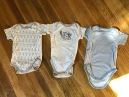 NEW - Gerber Baby Boy 3-Piece Organic Cotton Onesies Size 9-