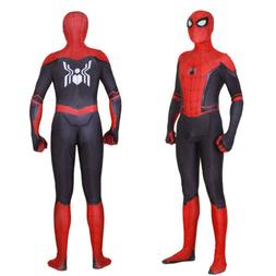 New SpiderMan: Far From Home Cosplay Spiderman Jumpsuit Supe