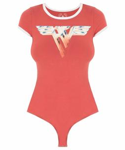 NWOT TRUNK LTD VAN HALEN TEE BODYSUIT One Piece Red Wonder w