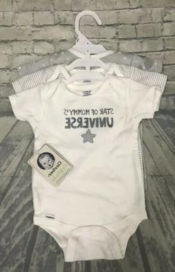 Gerber Organic Cotton Onesies 3 Pack Star Of Mommy's Unive