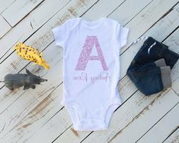 Personalized Gerber Baby Onesie: Available in 5 sizes w/ 55