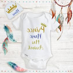 personalized name prince baby boy clothes onesies
