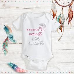 Personalized Name Princess Baby Girl Clothes Onesies & Hat B