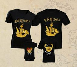 PIRATES OF THE CARIBBEAN Disney  Black 100% Cotton Size S T-
